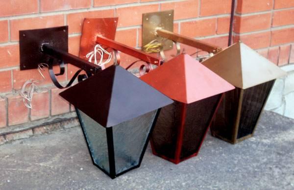 Самодельные уличные фонари из металла