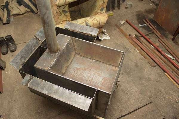 Своими руками металлическая печь для отопления дома 56