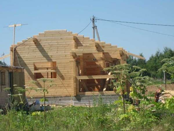 Как построить дом из бруса: технология : фотоотчет : видео