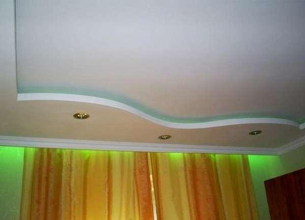 Как сделать потолок из гипсокартона своими руками простой